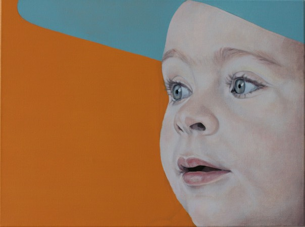 painting oil polo looking kid